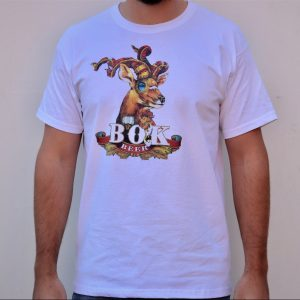 White T-Shirt with Bok Beer graphic, Berg River Brewery