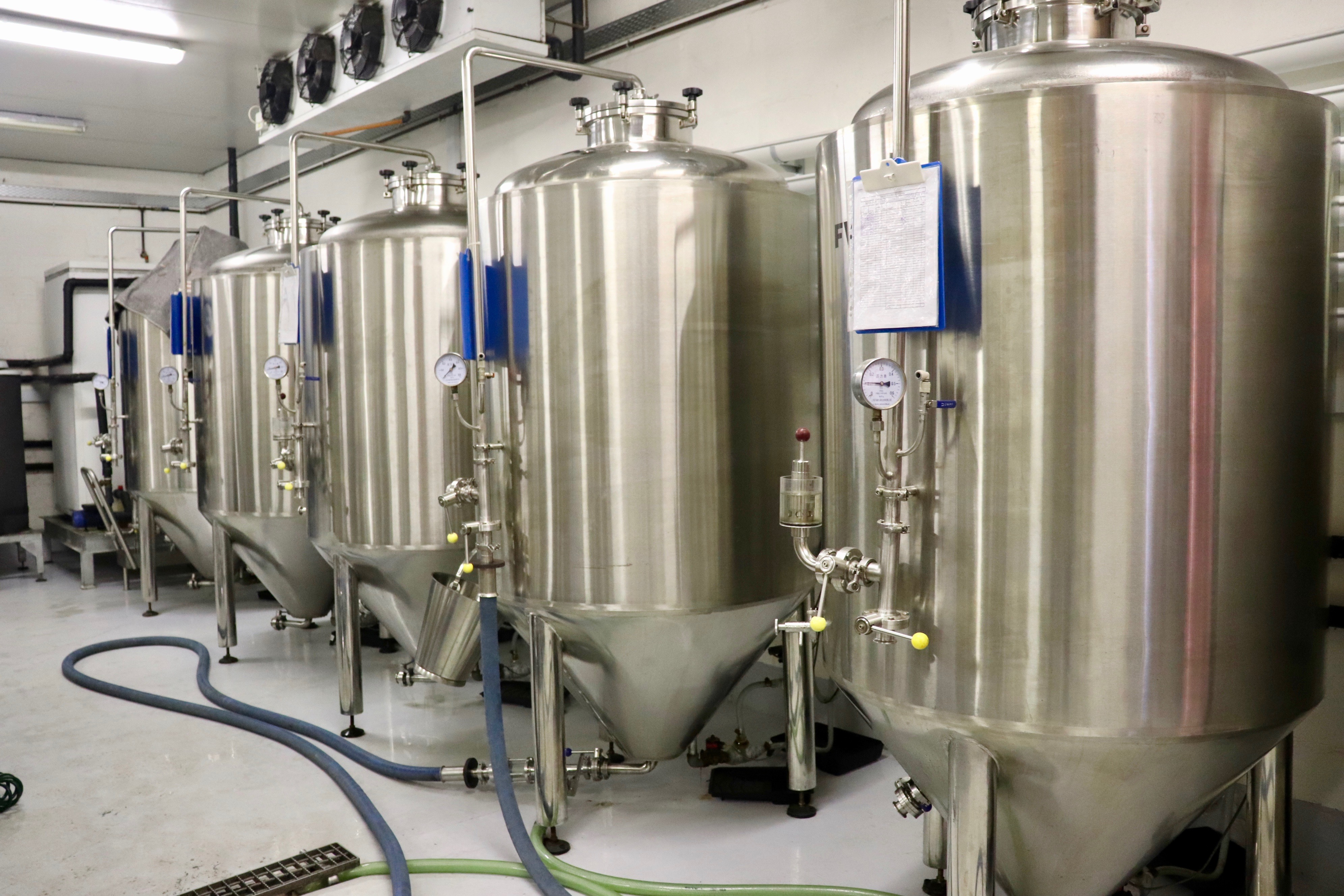 The Fermenting in the beer making process at berg river brewery