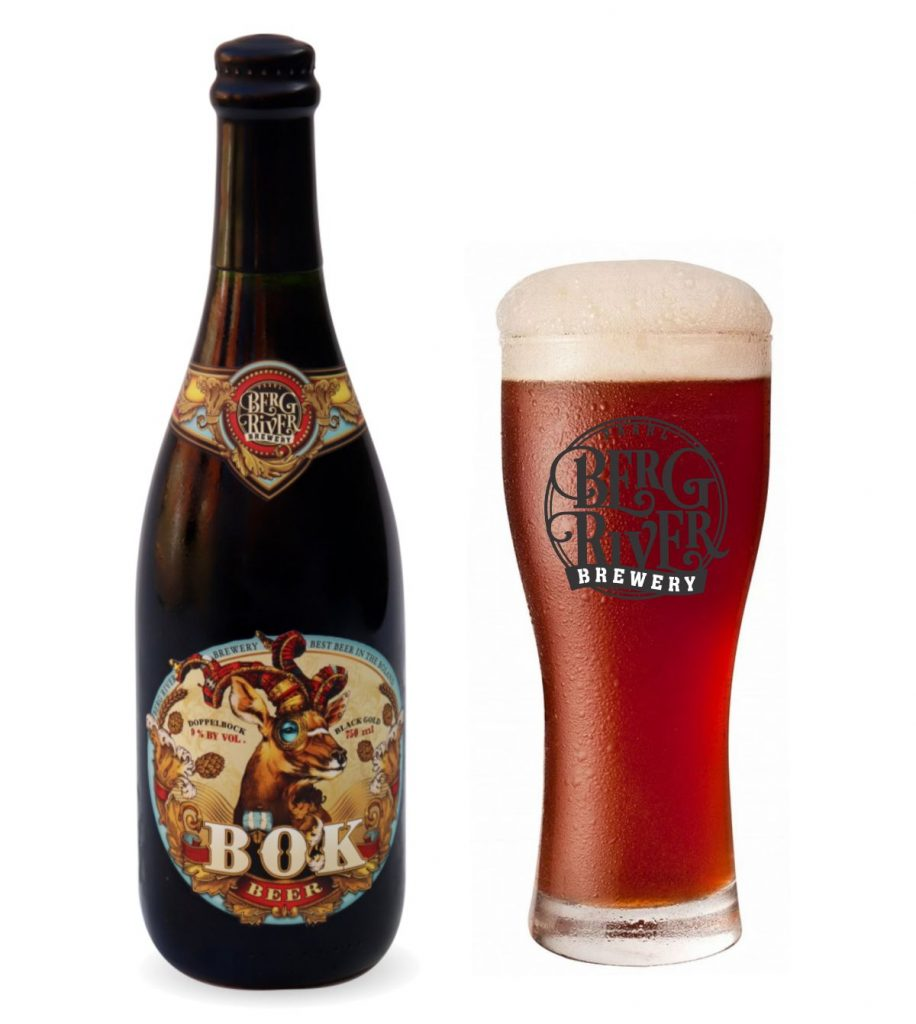 The Dunkel Weizen Duppel Bok crafted at Berg River Brewery