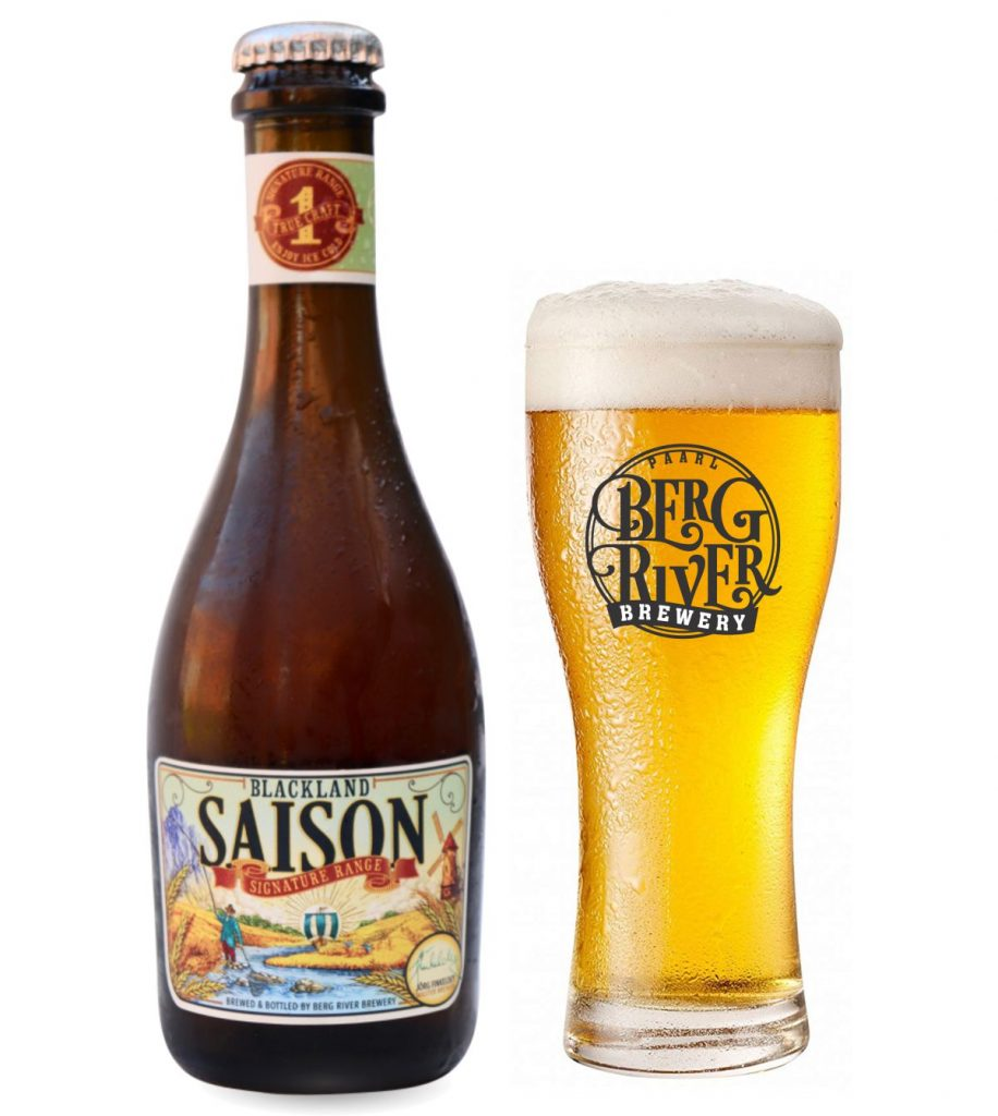 Blackland Saison crafted at berg river brewery