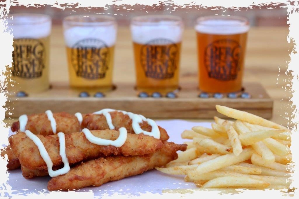 Try the ultimate comfort food from our food truck, Cripsy Chicken Strips served with hot chips, wash it down with your favourite Berg River Brewery craft beer, awesome friends, it'll have you coming back to Paarl again and again.