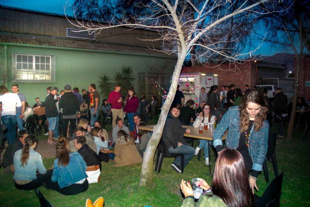 Court yard perfect for large gatherings at berg river brewery, Paarl. for live music, large gatherings and even open-air dance events. The courtyard includes a protected undercover area.