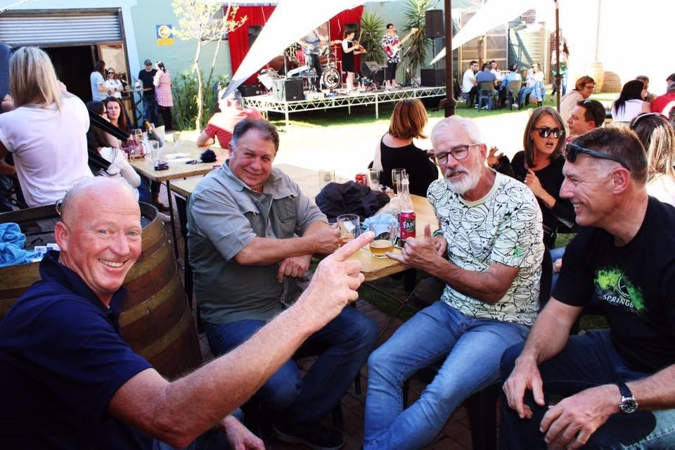 awesome craft beer where friends meet at the courtyard at berg river brewery